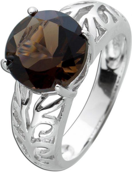 Edelstein Ring  Rauchquarz Silber 925  Damenring