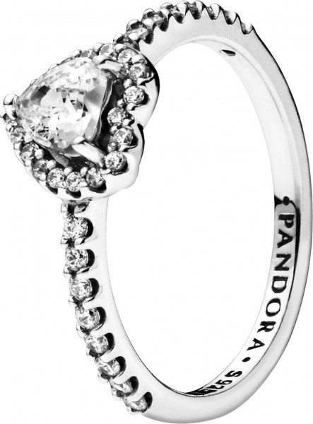 Pandora SALE Ring 198421C01 Non-Stackable Elevated Heart