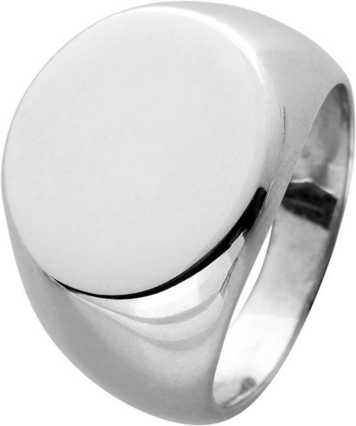 Gravierbarer Siegelring poliertem Silber 925