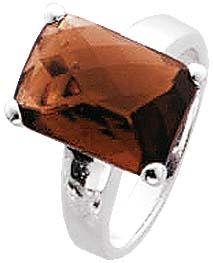 Silberring. Ring in verschiedenen Größen, mit funkelndem braunen Zirkonia, fein eingearbeitet in echtem 925/- Silber Sterlingsilber, mit gleichbleibender Ringschiene, rhodiniert und hochglanzpoliert, Ringkopfbreite ca. 14×10, Breite ca. 2,8mm. Passende Oh