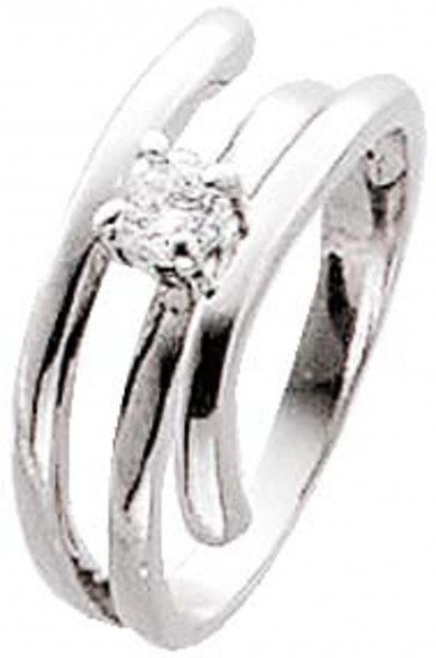 Ring Silber Sterlingsilber 925/- Zirkonia Designer Ring