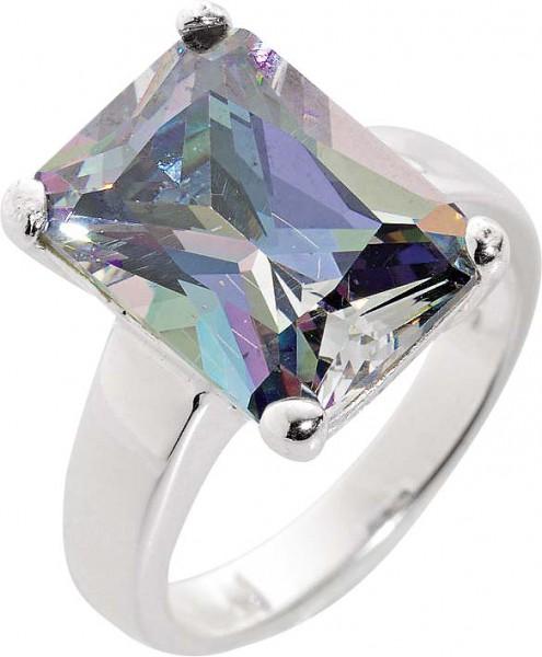 Silberring. Wunderschöner Ring aus echtem Silber Sterlingsilber 925/- mit  wunderschön funkelnden, grauen Ice Crystal Zirkonia im absoluten Topdesign. Durchmesser Stein ca. 13×9 mm, Breite ca. 5 mm, Stärke ca. 1,5 mm, mit gleichbleibender Ringschiene, rho