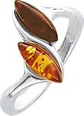 BernsteinSilberring mit Bernstein in verschiedenen Größen. Ring mit echtem, 2- farbigen wunderschönen  echten Bernsteinen, fein eingearbeitet in echtem 925/- Silber Sterlingsilber, poliert und rhodiniert. Durchmesser Steine ca. 10,6,x4,0 mm, Breite ca. 2,