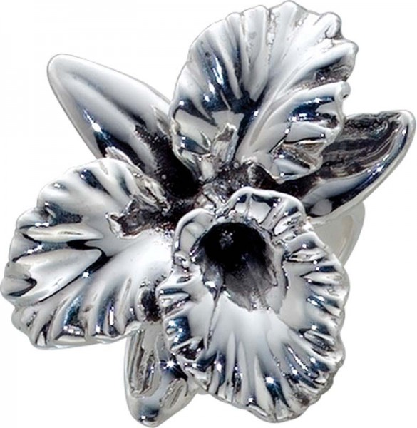 Silberring in Blumenform aus echtem 925/...