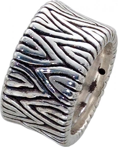 Designer Ring aus echtem 925/- Silber Sterlingsilber rhodiniert (Weißgoldlook), oxydiert und hochglanzpoliert. Breite ca. 1,29cm, Stärke ca. 0,27mm. Lieferbar in den Größen 16-20mm. Die feine Juweliersqualität aus Deutschlands größtem Schmuckverkä