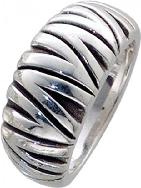 Designer Ring aus echtem 925/- Silber Sterlingsilber rhodiniert (Weißgoldlook), oxydiert und hochglanzpoliert. Breite ca. 10,87mm, Stärke ca. 1,79mm. Ringe lieferbar in den Größen 16-20mm. Die feine Juweliersqualität aus Deutschlands größtem Schm