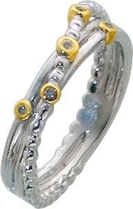 Ring Sterling Silber 925 Zirkonia vergol...