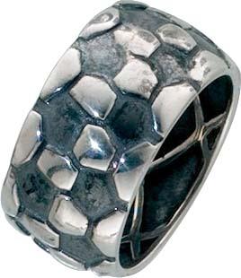 Ring aus echtem Silber Sterlingsilber 925/-  Breite ca. 11vmm, Stärke ca. 2,5 mm,mit gleichbleibender Ringschiene, hochglanz poliert, teilweise geschwärzt. Mit wunderschönen Muster  passend für Ihre Sammelsysteme.Premiumqualität von Deutschlands größtem S