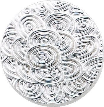 Designer Ring, rund mit Blumenmuster (Durchmesser ca. 29 mm), aus echtem Silber Sterlingsilber 925/-, rhodiniert im edlen Weißgoldlook und hochglanzpoliert. Ring ist in verschiedenen Größen erhältlich. Ein glamouröses Accessoire und wahrer Eyecatcher nur