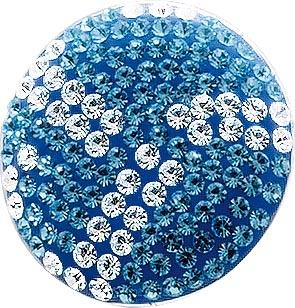 Designer Ring aus echtem Silber Sterlingsilber 925/- mit weißen und blauen funkelnden Kristallsteinen (Durchmesser ca. 24 mm). Ringschiene rhodiniert und hochglanzpoliert in den Größen 16/17/18/19 und 20 mm. Ein Lichtermeer an Ihrem Finger zum Knallerprei