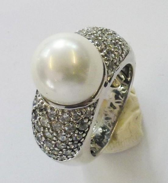 silberring mit perle wei e oder schwarze perlen. Black Bedroom Furniture Sets. Home Design Ideas