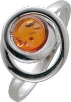Bernstein. Ring aus echtem Silber Sterlingsilber 925/- mit edlem Bernstein. Durchmesser ca. 11 mm, Breite ca. 2 mm, Stärke ca. 0,8 mm, gleichbleibende Ringschiene. Der Ring ist rhodiniert und poliert. Siehe hierzu auch unseren passenden Anhänger und Ohrsc