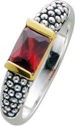 Zirkoniaring Silber 925 rot