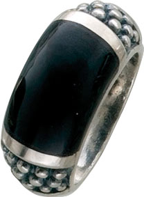 Schwarzer Onyx Ring Silberring Sterling Silber 925